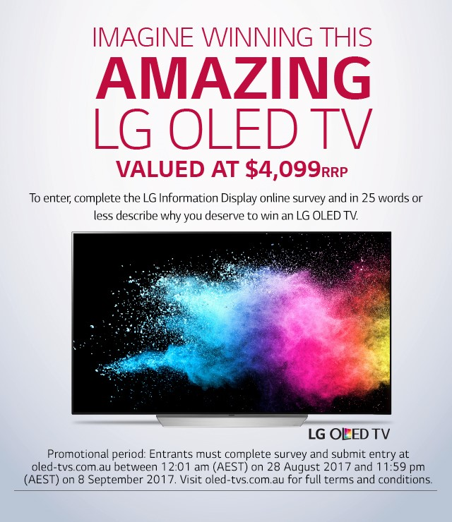 LG Information Display Online Survey Promo