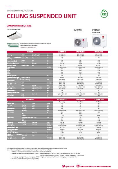 UV30R sales spec sheet